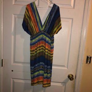 Lust Love Striped Wrap Style Dress Size L